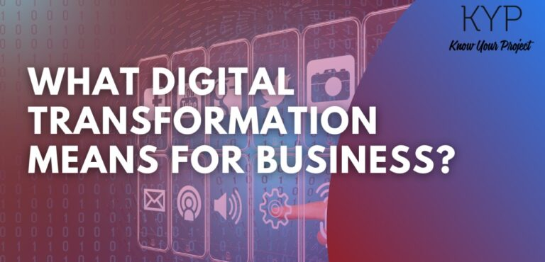 What technology and digital transformation means for business?